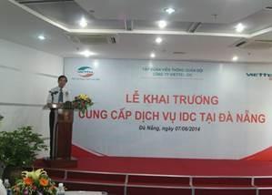 Lãnh đạo Sở phát biểu chúc mừng Viettel IDC
