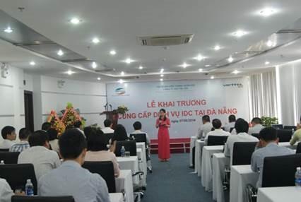 Toàn cảnh Lễ khai trương dịch vụ IDC của Viettel IDC tại Đà Nẵng