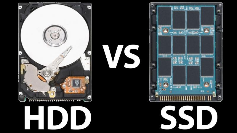 lưu trữ HDD và SSD