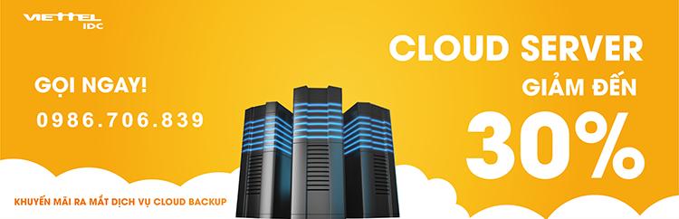 Khuyến mãi dịch vụ Cloud Server