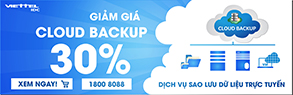 khuyến mãi Cloud backup